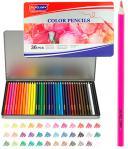 Карандаши 36 цветов в металлическом пенале
