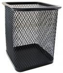 Стакан для канцелярских принадлежностей металлический квадратный, черный