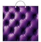 Пакет Фиолетовая кожа с пластиковой ручкой
