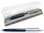 Ручка шариковая автоматическая в футляре Р-16-А, синий корпус, HALF METAL