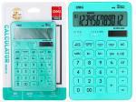 Калькулятор 12-и разрядный, бирюзовый, Deli М01531