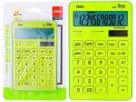 Калькулятор 12 разрядов, салатовый, Deli М01551