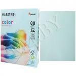 Бумага А4 500 листов 80 г/м голубой, MAESTRO COLOR