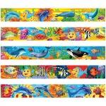 Закладка-магнит для книг Морские обитатели, блестки, 25х200 мм