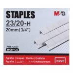 Скобы для степлера №23/20, 1000 шт, M&G