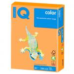 Бумага А4, 10 л., 80 г/м², оранжевый неон, IQ COLOR+файл
