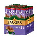 Кофе растворимый 4 в 1, 12 г, JACOBS CHOCO, с какао-порошком