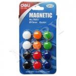 Магниты для доски, 12 шт., Deli 7823