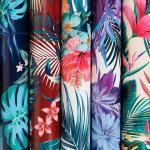 Бумага упаковочная глянц. 70х100 см, С тропическими цветами, 1 лист