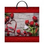 Пакет Красная лента с пластиковой ручкой