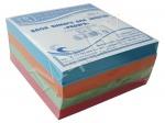 Блок для заметок 9х9х5 см, цветной, Радуга