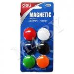 Магниты для доски, 6 шт., Deli 7825