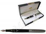 Ручка перьевая черная/серебро в футляре, Crocodile 702чер/сер.80.1
