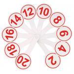 Касса (веер) цифр, от 1 до 20