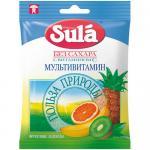 Леденцы фруктовые, SULA, Мультивитамин, с витамином C, 60 г