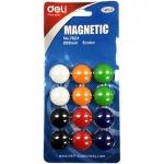 Магниты для доски, 12 шт., Deli 7824