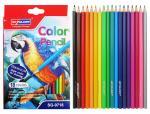 Карандаши 18 цветов треугольные пластиковые