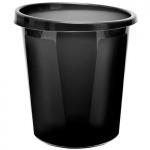 Корзина для бумаг 9 литров черная цельная