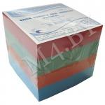 Блок для заметок 9х9х9 см, цветной, Радуга