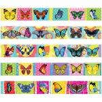 Закладка-магнит для книг Бабочки, блестки, 25х200 мм