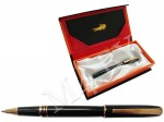 Ручка роллер черная/золото в футляре, Crocodile 222черн/зол.60.1