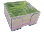 Блок для заметок 9х9х5, цветной, в прозрачном боксе