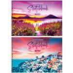 Альбом для рисования А4, на гребне, 32 л., «Путешествия. Bright sunset»
