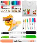 Набор маркеров-кисть для ткани 15+1 цвет
