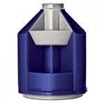 Органайзер без наполнения, двухцветный (синий-серый), MINI DESK