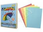 Бумага А4, 250 л., 80 г/м², цветная, РАДУГА