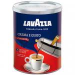 Кофе молотый 250 г в ж/б, LAVAZZA CREMA E GUSTO