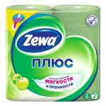 Бумага туалетная ZEWA Плюс ароматизированная Яблоко 2 слоя 1x4 рул