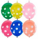 Набор шаров воздушных Яркий горошек 5 шт