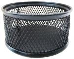 Подставка для канцелярских принадлежностей металлическая круглая, черная