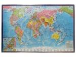 Подложка с картой Мира, 590х380