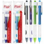 Набор ручек шариковых, автоматических, 2 шт в блистере, EZEE CLICK PRO, Flair