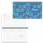 Планинг 64 л., 165х85, Цветы на синем
