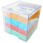 Блок для заметок 9х9х9, цветной, в прозрачном боксе