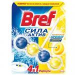 Освежитель для унитаза Bref Сила-Актив Лимонная свежесть 50 гр