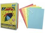 Бумага А4, 10 л., 80 г/м², цветная, Радуга