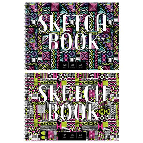 Блокнот для эскизов и зарисовок А5, 60 л., на гребне, Sketchbook