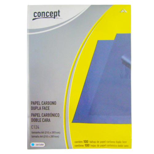 Бумага копировальная А4 100 листов синяя