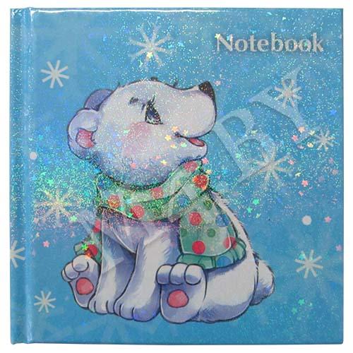 Книжка записная 48 л., 105х105, Белый мишка