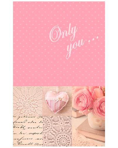 Книжка записная 96 л., А6+, Только ты..., розовая фактура