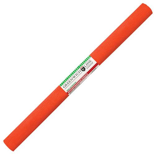 Бумага креповая 50х2,5 темно-оранжевая, GREENWICH LINE