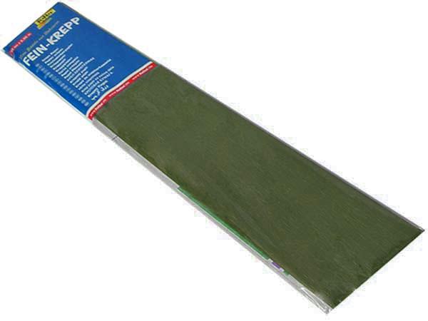 Бумага креповая 50х2,5 оливковая