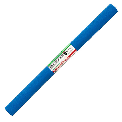 Бумага креповая 50х2,5 синяя, GREENWICH LINE