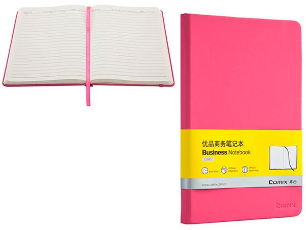 Ежедневник 122 л., 138х206 мм, розовый, на резинке