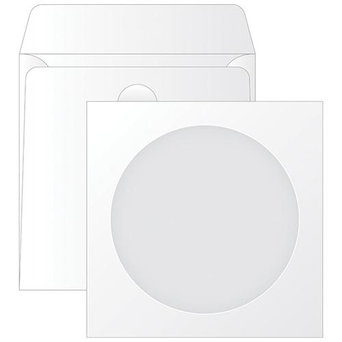 Конверт для CD бумажный, с окном, декстрин, 125х125