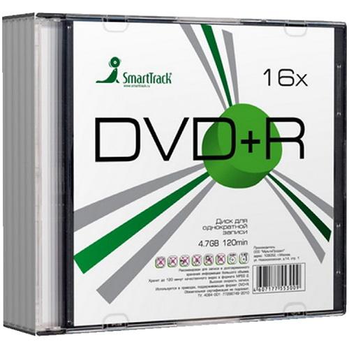 Диск DVD+R 4,7Gb 2-4x Slim, SMART TRACK